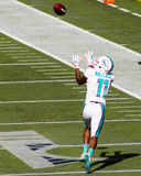 Mike Wallace Miami Dolphins. Miami Dolphins WR Mike Wallace (11) attempts to catch a pass against the New England Patriots Stock Image