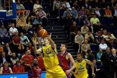 Mike Wilkinson com basquetebol Imagens de Stock