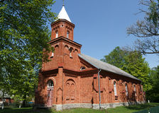 Mikeltornis Evangelical Lutheran Church Royalty Free Stock Photos