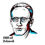 Mikhail Botvinnik portret ilustracji