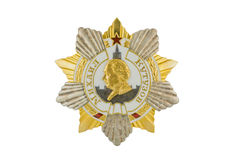 Mikhail Kutuzov Order of I degree. Mikhail Kutuzov Order of I degree on white background royalty free stock photos