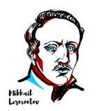 Mikhail Lermontov ilustração do vetor