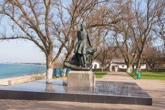 Mikhail Lermontov Monument dans Taman, situé sur le rivage de la mer d'Azov dans le maison-musée dans ho Images stock