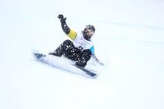 Mikhail Matveev - slopestyle imagem de stock