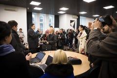 Mikhail Saakashvili on briefing for press Stock Photos
