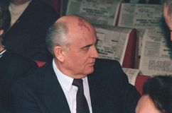 Mikhail Sergeevich Gorbachev Imagens de Stock Royalty Free