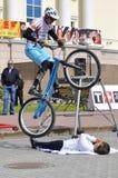Mikhail Sukhanov kapacitet, mästare av Ryssland på en tri cirkulering arkivfoton