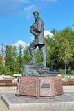 Mikhail Vrubel monument i Omsk, Ryssland Arkivbilder