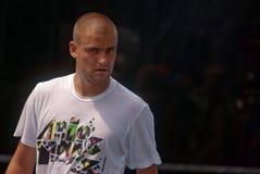 Mikhail Youzhny ein russischer Tennisstern stockbild