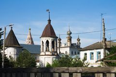 Russia, Yuryev-Polsky, 30, May, 2015:The Mikhailo-Arkhangelsk Monastery, Vladimir Region. The Mikhailo-Arkhangelsk Monastery, Vladimir Region, Russia, Yuryev royalty free stock image