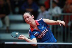 MIKHAILOVA Polina from Russia forehand Stock Photos