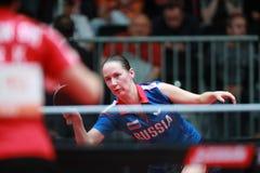 MIKHAILOVA Polina from Russia forehand Royalty Free Stock Image