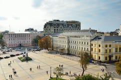 Mikhailovskaya square in Kyiv Royalty Free Stock Images