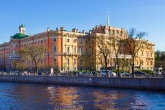 Mikhailovsky城堡的看法 彼得斯堡圣徒 免版税库存图片