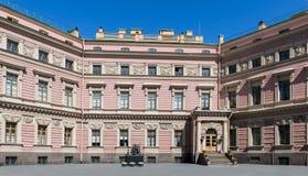 Mikhailovsky城堡, Sankt彼得斯堡,俄罗斯 免版税库存图片