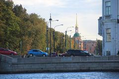 Mikhailovsky工程学城堡 圣徒彼得斯堡 俄国 库存图片