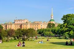 mikhailovsky的城堡 免版税库存照片