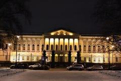 mikhailovsky русский дворца ночи музея Стоковые Фотографии RF