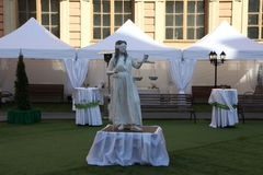 mikhailovsky (工程学)城堡的演员历史动画 库存图片