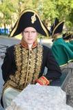 mikhailovsky (工程学)城堡的演员历史动画 库存照片