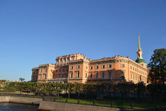 Mikhailovsky Castle (Engineers Castle). Royalty Free Stock Images