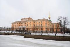 The Mikhailovsky Castle ( Engineers Castle ). Stock Image