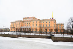 The Mikhailovsky Castle ( Engineers Castle ). Royalty Free Stock Photo