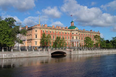 The Mikhailovsky castle in St-Petersburg Stock Photos