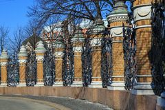 Mikhailovsky Garden Fence Royalty Free Stock Photos