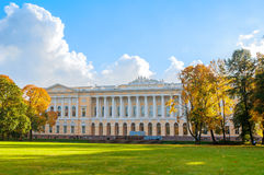 Mikhailovsky palace, building of the State Russian museum - northern facade of building, St Petersburg, Russia Royalty Free Stock Image