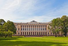 Mikhailovsky Palace (1825) in Saint Petersburg, Russia Royalty Free Stock Photo