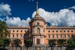 Mikhailovsky Roszuje lub Konstruuje castl, aka St Michael kasztel, Obrazy Stock