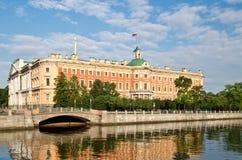 mikhailovsky slott Royaltyfria Foton