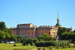 Mikhailovsky slott i St Petersburg Arkivfoto