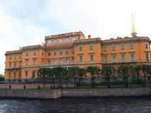 Mikhailovsky slott i St Petersburg Ryssland Arkivbild