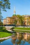 Mikhailovsky slott, St Petersburg, Ryssland Royaltyfria Bilder