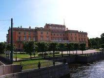 Mikhailovskykasteel in St. Petersburg, Rusland Prachtige gebouwen en oude architectuur van de mooie stad, royalty-vrije stock afbeelding