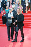 Mikhalkov and Pitt at Moscow Film Festival Stock Image
