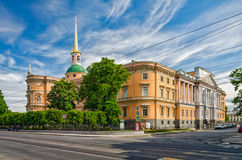 Mikhaylovsky Saint Michael's Castle, also known as Inzhenerny (Engineer's) Castle. Stock Image