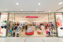 Miki House childrens clothing in Ocean Terminal, Hong Kong. HONG KONG - MARCH 16, 2017: A Miki House store of childrens clothing in the Ocean Terminal, Harbour Royalty Free Stock Image