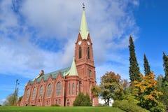 Mikkeli,芬兰 大教堂赫尔辛基路德教会 免版税图库摄影