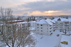 Mikkeli, Finland. View of the town  from the hill Naisvuori Stock Photography