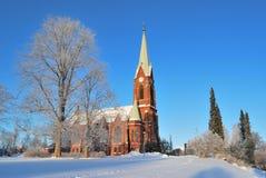 Mikkeli, Finlande. Cathédrale luthérienne Photos libres de droits