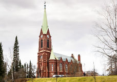 Mikkeli, Suomi or Finland. Mikkeli cathedral view, Eastern Finland Royalty Free Stock Photography