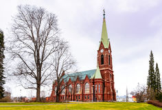 Mikkeli, Suomi or Finland. Mikkeli cathedral view, Eastern Finland Royalty Free Stock Images