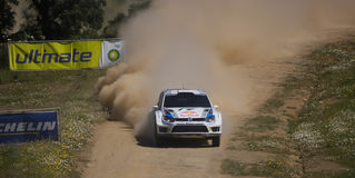 A. Mikkelsen in Rally de Portugal 2013 Stock Photos
