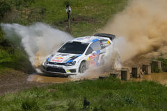 A. Mikkelsen in Rally de Portugal 2013 Stock Photography