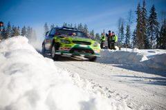 Mikko Hirvonen WRC Royalty Free Stock Images