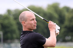 Mikko Pirinen, European long drive contest Stock Photos