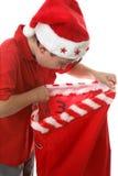Mikołaj jest prezenty fotografia royalty free